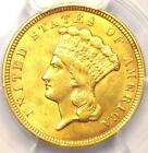 1857 Three Dollar Indian Gold Piece $3 - PCGS Uncirculated (UNC MS) - Rare Date!