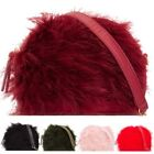 New Zipped Feather Faux Leather Small Women's Fashion Shoulder Clutch Bag