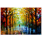 Colorful Tree Forest Canvas Print Oil Painting Unframed Art Wall Home Room Decor