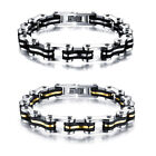 Men Cool Titanium Steel Chain Punk Gothic Vintage Jewelry Charm Bangle Bracelet