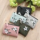 2018 Women Girls Short Wallet Coin Purse  Leather Floral Cash Wallet Short Purse
