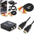 1080P HDMI HD TV to AV Converter (1) + 5Ft VGA Gold Plated Cable + 6ft HDMI Cabl
