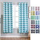 Chevron Blackout 52 x 84-Inch Window Drapes Curtains 2 Panels with Grommet Top