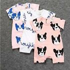 2018 Summer Fashion Cartoon dog pattern Girl Clothes newbron Baby girls jumpsuit
