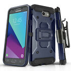 for SAMSUNG GALAXY HALO, [Tank Series] Phone Case & Holster Clip +Tempered Glass
