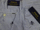 "Polo Ralph Lauren Stretch Classic Fit Seersucker 9"" Inseam Shorts Skull NWT $89"