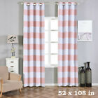 Cabana Stripe 52 x 108-Inch Window Drapes Curtains 2 Panels with Grommet Top