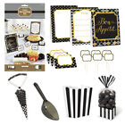 BLACK BUFFET Birthday Party Tableware, Banners, Balloons & Decorations (1C)
