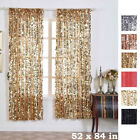Big Payette Sequin 52 x 84-Inch Window Drapes Curtains 2 Panels Home Decor SALE