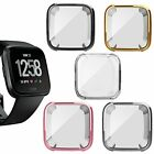 Fitbit Versa Full Frame Screen Protector Slim TPU Flexible Bumper Cover Case image