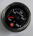 Electronic Water Temperature Gauge With Warning Spin Lock 52mm Chrome+Sensor