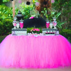 Table Skirt Wonderland and Romantic Tableware Wedding Party Xmas Baby Shower Bir