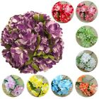 24 pcs 4 bundle hydrangea mini paper flower scrapbook wrapping décor DIY card