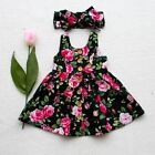 USA Baby Girl Floral Dress Party Wedding Pageant Formal Dresses Sundress Clothes