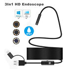 3in1 Android USB Type-C Endoscope Inspection 5.5mm Camera 6 LED HD Waterproof