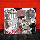 New PSYCHO norman bates POSTER ART, shows house & motel sign, bloody, 1960 movie