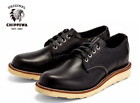 "CHIPPEWA MEN'S 4"" ALDRICH BLACK OXFORD PLAIN TOE WEDGE SHOES 1901M43 Made in USA"