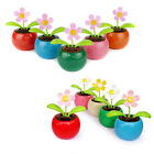1pc Solar Powered Dancing Flower Swinging Animated Dancer Toy Car Decoration New