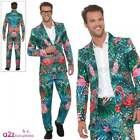 Mens Stand Out Hawaiian Tropical Flamingo Suit Adult Stag Do Fancy Dress Outfit