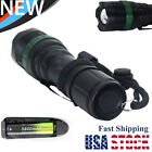 Ultrafire T6 LED Flashight Torch 15000LMs Zoom Focus Lamp+18650Batterys+Charger@