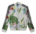 adidas Originals Women's Grey Marl Floral Print Training Track Top Jacket M UK14