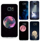 Fashion Moon Style Phone Protective Plastic Case Cover for Samsung S8 S6 Pretty