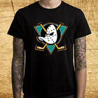 New Mighty Ducks Anaheim Logo Men's Black T-Shirt Size S-3XL on eBay