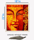 Digitally Printed Budha Canvas painting without frame Incense Stand (18x22)