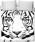 ROB White Tiger Duvet Cover