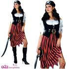 Womens Shipwrecked Buccaneer High Seas Pirate Lady Adult Fancy Dress Costume