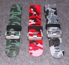 Men's 26mm urban camo silicon bands in green, red, or grey
