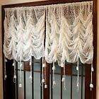 Rustic Lace Curtains Adjustable Balloon Sheer Curtains Sunflower Voile Curtain