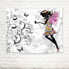 Flowers Butterfly Angel Girl Tapestry Wall Hanging for Living Room Bedroom Decor