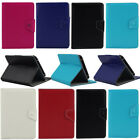 "Luxury PU Leather  Tablet Case Cover For Various 7"" Android Table + Free Stylus"