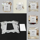 2PCS Mirror Sticker Light Switch Plug Surround Bedroom Wall Sticker Home Decor