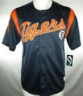 Detroit Tigers Mens Navy S S Dynasty Embroidered Baseball Jersey MLB L XL 2XL