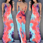 USA Fashion Women Summer Boho Long Maxi Dress Evening Cocktail Party Beach Dress