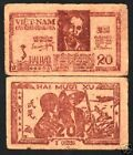 VIETNAM 20 Xu.P13 1948 HO CHI MINH SOLDIER RARE CURRENCY MONEY BILL BANK NOTE