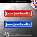 2 x CASA LAMBRETTA Vinyl Stickers Decals, Scooter Lambretta 150mm wide 7378-0119