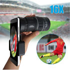 16x52 Zoom Hiking Monocular Telescope Lens Camera HD Scope Hunting Phone Holder