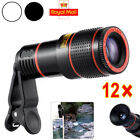 Universal 12X Zoom Telephoto Telescope Optical Camera Lens+Clip For Mobile Phone