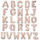 "ROSE GOLD 16"" LETTER NUMBER FOIL BALLOON ALPHABET NAME BIRTHDAY PARTY BALLOONS"