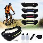 WaterProof Hydration Waist Running Jogging Pouch Belt w/ 2 Free Water Bottles    image