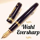 Wahl Eversharp Decoband Plain Ebonite Oversize Flex F 14K nib Fountain Pen