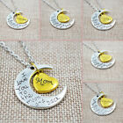 nice mom gifts - NEW 2018 I Love You To The Moon and Back Silver Necklace with Heart for Family