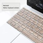Wooden 11/13 inch notebook wireless keyboard covers Walnut keyboard stickers for