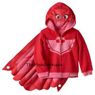 NWT Disney PJ Masks Owlette Red Costume Hoodie Jacket Wings Cape 2T 3T 4T 5T 6X