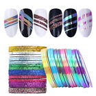 Matte Glitter Nail Striping Tape Line Mermaid Colorful Nail Art Adhesive Sticker