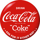 Drink Coca-Cola Red Disc Removable Wall Decal 1930s Style $56.99  on eBay
