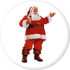 Coca-Cola Santa Disc White Removable Wall Decal Button Style